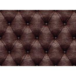 papel-de-parede-capitone-couro-marrom