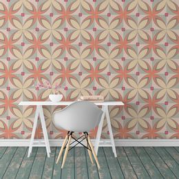 papel-de-parede-abstrato-retro-classico-coral1