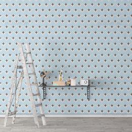 papel-de-parede-classico-abstrato-retro-azul-claro1