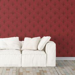 papel-de-parede-abstrato-moderno-leque-vermelho1
