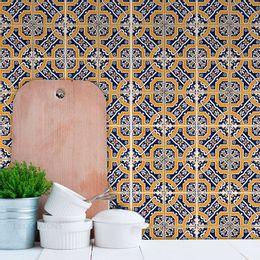 papel-de-parede-azulejo-portugues-com-pequenas-margaridas-mostarda1