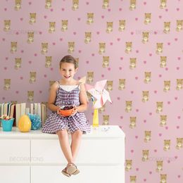 papel-de-parede-coracao-poa-gatinhos-rosa-claro1