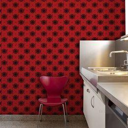 papel-de-parede-talheres-e-pratos-vermelho1