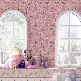 papel-de-parede-castelo-encantado-princesa-rosa1