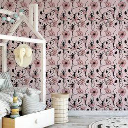 papel-de-parede-bailarinas-vestido-e-flores-rosa-claro1