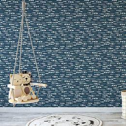 papel-de-parede-cardume-de-peixes-azul-marinho1