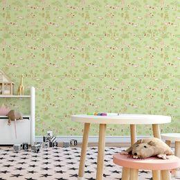 papel-de-parede-galinhas-animadas-verde-claro1
