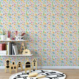 papel-de-parede-animais-no-jardim-colorida1