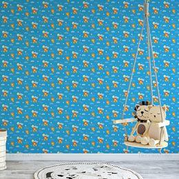 papel-de-parede-leaozinhos-fofinhos-e-nuvens-azul-claro1