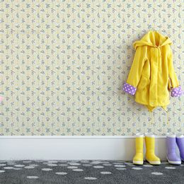 papel-de-parede-criancas-brincando-amarelo-claro1