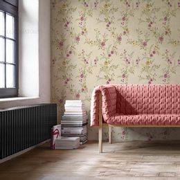papel-de-parede-floral-cacho-de-rosas-bege1