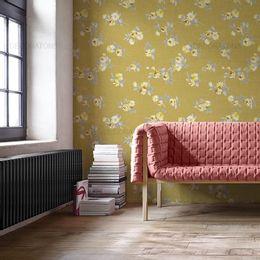 papel-de-parede-rosas-cortadas-verde-musgo1