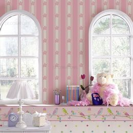 papel-de-parede-listrado-com-flores-infantil-rosa
