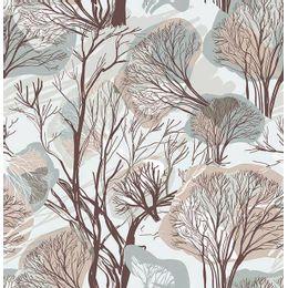 papel-de-parede-flores-abstrato-cinza