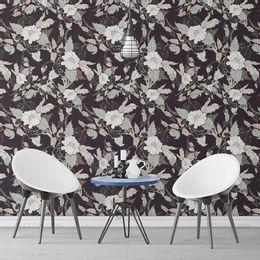 papel-de-parede-floral-rosas-preto1