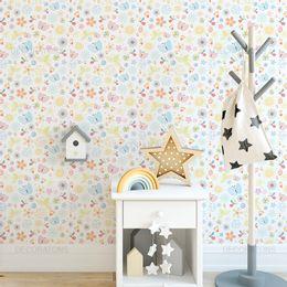 Papel-de-parede-borboletas-jardim-colorido1