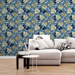 papel-de-parede-passaros-e-rosas-azul-acinzentado1