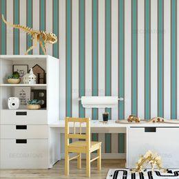 papel-de-parede-listrado-turquesa-e-marrom