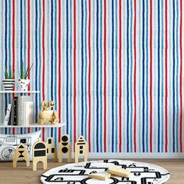 papel-de-parede-listrado-pincel-tons-azul-e-vermelho