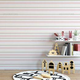 papel-de-parede-listrado-horizontal-tons-pasteis-rosa