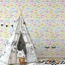 papel-de-parede-dinossauros-infantil-colorido-1