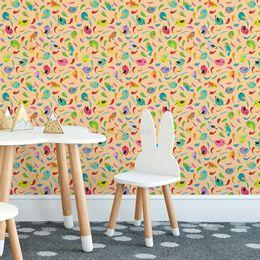 papel-de-parede-passaros-e-penas-coloridos