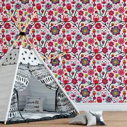 papel-de-parede-coruja-e-flores-branco-1