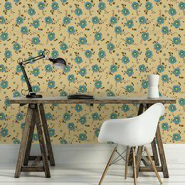 papel-de-parede-flores-e-frutinhas-amarelo-1