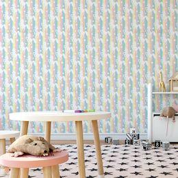 papel-de-parede-unicornio-colorido-1