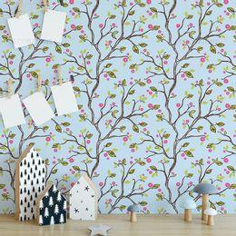 papel-de-parede-flores-com-joaninha-e-passaro-colorido-1