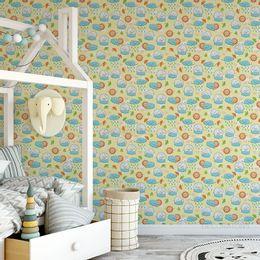 papel-de-parede-elefante-dormindo-na-nuvem-e-sol-amarelo-claro-1
