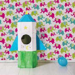 papel-de-parede-elefantes-e-engrenagens-colorido