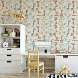 papel-de-parede-girafas-infantil-creme-1