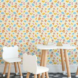papel-de-parede-animais-delicados-amarelo-claro-1