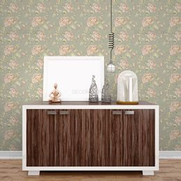 papel-de-parede-floral-vintage-com-rosas-verde-acinzentado-1