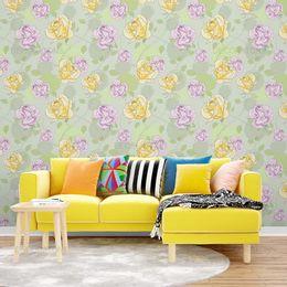 papel-de-parede-floral-abstrato-verde-claro