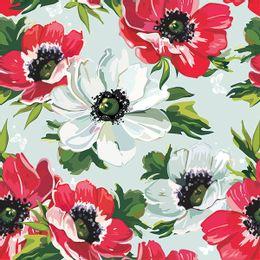 papel-de-parede-flores-em-desenho-vermelho