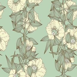 papel-de-parede-ramos-de-flores-verde-acinzentado