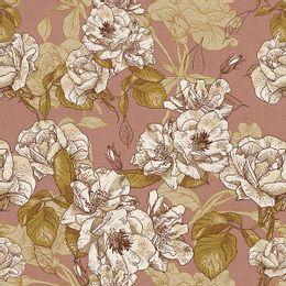 papel-de-parede-classico-floral-rosa-queimado