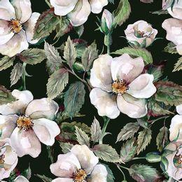 papel-de-parede-floral-classico-fundo-preto