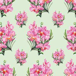 papel-de-parede-orquidea-em-ramalhetes-verde-claro