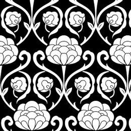 papel-de-parede-vintage-floral-preto-e-branco