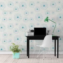 papel-de-parede-flores-dente-de-leao-verde-claro