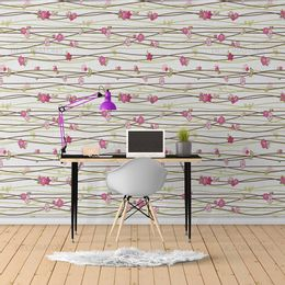 papel-de-parede-listrado-floral-rosa-claro-1
