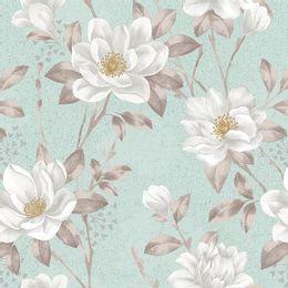 papel-de-parede-floral-tropical-tons-pasteis-verde-claro