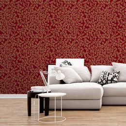 papel-de-parede-tropical-folhas-e-galhos-vinho