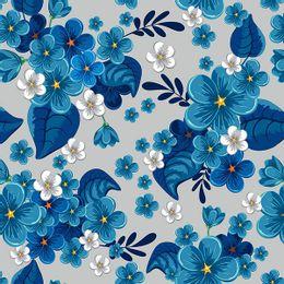 papel-de-parede-tropical-florido-cinza
