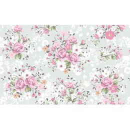 papel-de-parede-tropical-buque-de-rosas-cinza
