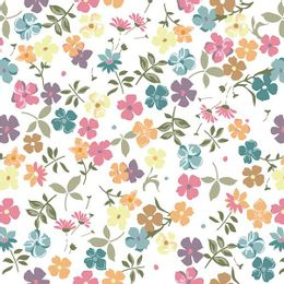 papel-de-parede-pequenas-e-variadas-flores-coloridas-branco