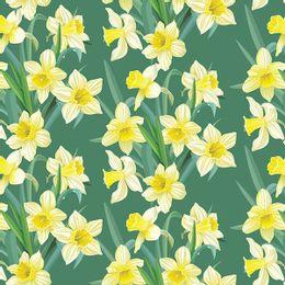 papel-de-parede-floral-lirio-em-verde-floresta